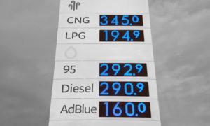 LED benzin ár kijelző