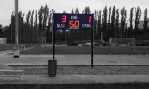 Kültéri LED foci eredményjelző