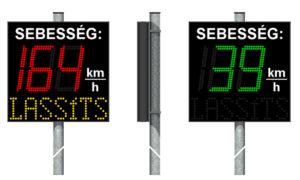 Kétszínű sebességjelző