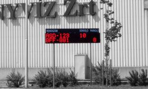 Kamionhívó LED fényújság Kékkúti Ásványvíz