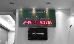 Visszaszámláló LED óra Magyar Posta