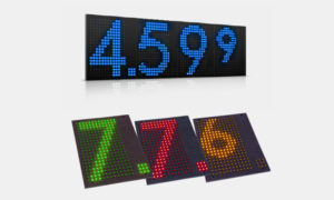 LED benzinár kijelző modul