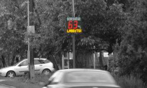 Sebesség kijelző tábla Budapest 18ker