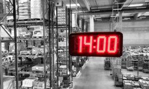 LED ipari óra és szünetjelző rendszer