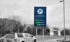 Parkoló telítettség LED kijelző